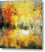 Sunset After The Storm Abstract Metal Print