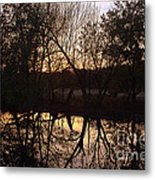 Sunset Along Jordan Creek Metal Print