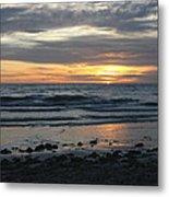 Sunset Amoung The Clouds Metal Print
