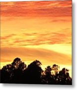 Sunset And Beautiful Clouds Metal Print