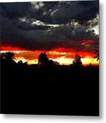 Sunset And Clouds Metal Print