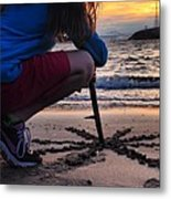 Sunset And Sand Art Metal Print by Brian Maloney