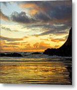 Sunset And Seal Rock Metal Print