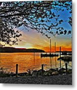 Sunset And Spring Blooms Metal Print