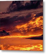 Sunset And Storm Clouds Metal Print