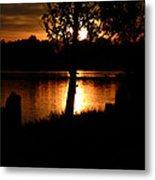 Sunset And Tree Metal Print