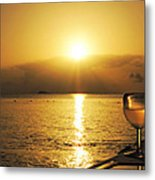 Sunset And Wine Metal Print