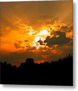 Sunset Angel Metal Print