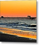 Sunset Apache Pier Metal Print