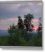 Sunset At Brasstown Bald Metal Print