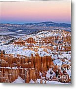 Sunset At Bryce Canyon National Park Utah Metal Print
