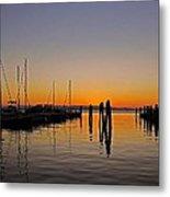 Sunset At Burlington Bay - Vermont Metal Print