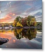 Sunset At Cambridge Reservoir Metal Print