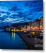 Sunset At Camogli In Liguria - Italy Metal Print