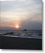 Sunset At Cape May Nj Metal Print