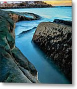 Sunset At Cape Neddick Light- Maine Metal Print by Thomas Schoeller