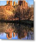 Sunset At Cathedral Rock In Sedona Az Metal Print by Teri Virbickis