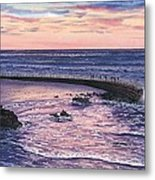 Sunset At Children's Pool Metal Print