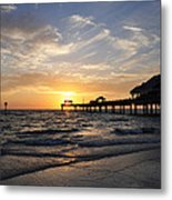 Sunset At Clearwater Metal Print