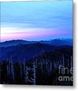 Sunset At Clingman's Dome Metal Print