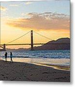 Sunset At Crissy Field With Golden Gate Bridge San Francisco Ca 5 Metal Print