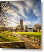 Sunset At Derby Cathedral Park Metal Print