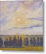 Sunset At Eragny, 1890 Metal Print