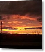 Sunset At Fore River Metal Print