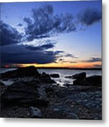 Sunset At Fort Getty Metal Print