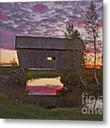 Sunset At Foster Bridge Metal Print