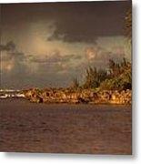 Sunset At Haleiwa Beach Oahu Hawaii V3 Metal Print