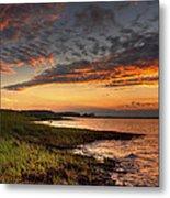 Sunset At Kent Narrows Metal Print