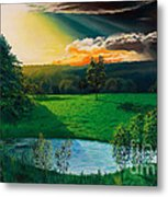 Sunset At L Hermitiere Metal Print