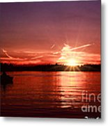 Sunset At Lake Of The Woods Metal Print