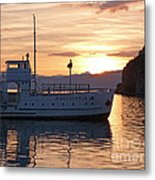 Sunset At Lake Ohrid Metal Print