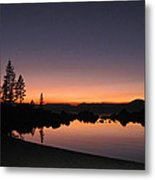 Sunset At Lake Tahoe Metal Print