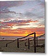 Sunset At Las Glorias Over Sea Of Cortez-sinaloa Metal Print