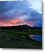 Sunset At Locke's Pond - Big Horn Mountains - Buffalo Wyoming Metal Print