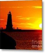 Sunset At Ludington Metal Print