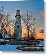 Sunset At Marblehead Lighthouse Metal Print