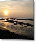 Sunset At Marine Drive Metal Print