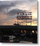 Sunset At Market Metal Print