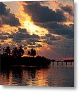 Sunset At Mitchells Keys Villas Metal Print