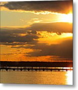 Sunset At National Harbor Metal Print