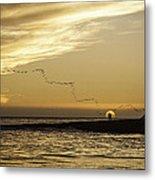 Sunset At Natural Bridges By David Kerbyson  Metal Print