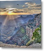 Sunset At Northern Rim Of The Grand Canyon Metal Print