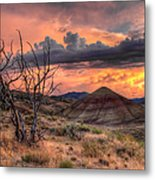 Sunset At Painted Hills In Oregon Metal Print