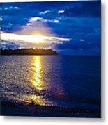 Sunset At Parksville Beach Metal Print