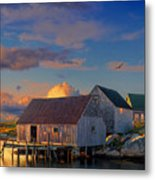 Sunset At Peggy's Cove 06 Metal Print