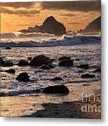 Sunset At Pfeiffer Beach Metal Print